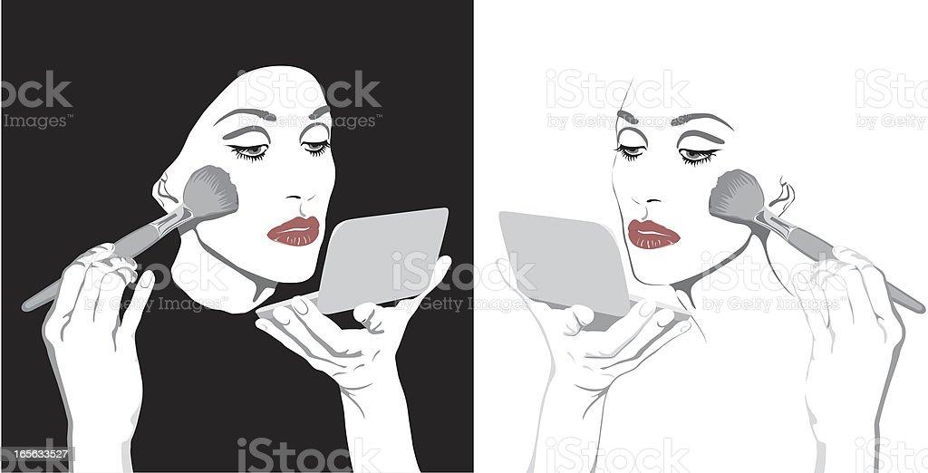 girl`s makeup vector art illustration