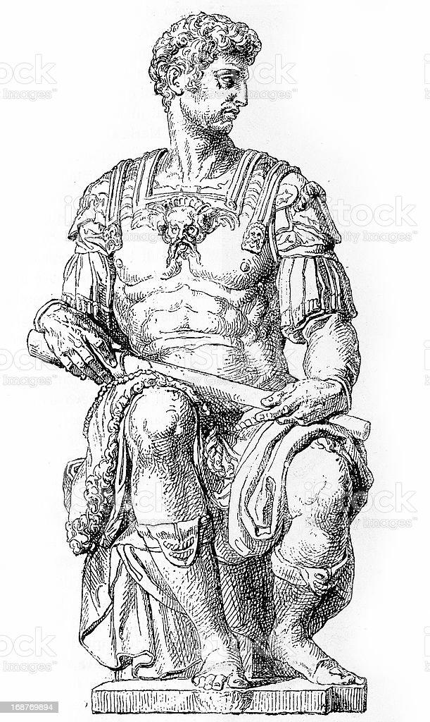 Giuliano II de' Medici royalty-free stock vector art