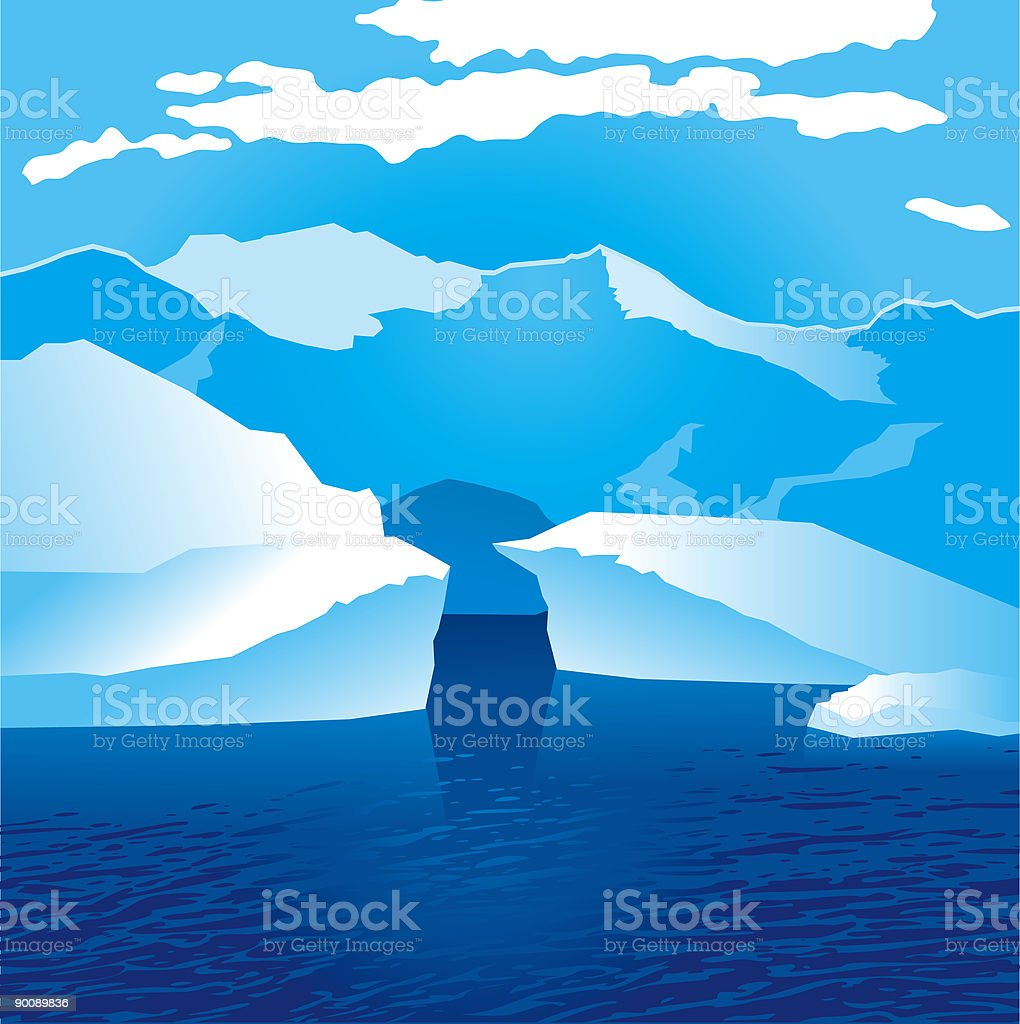 glacier vector art illustration