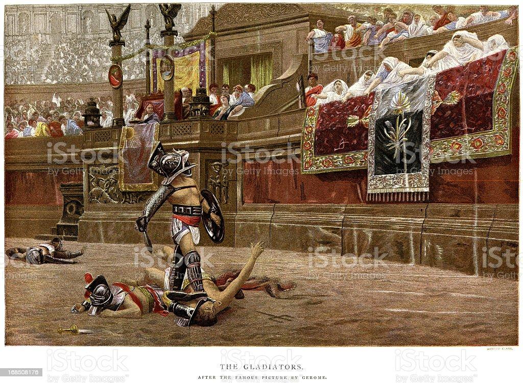 Gladiators vector art illustration
