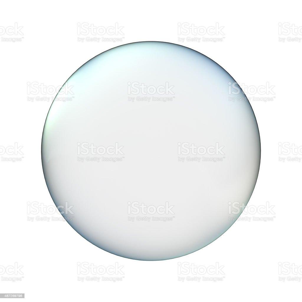 glass ball isolated on white vector art illustration