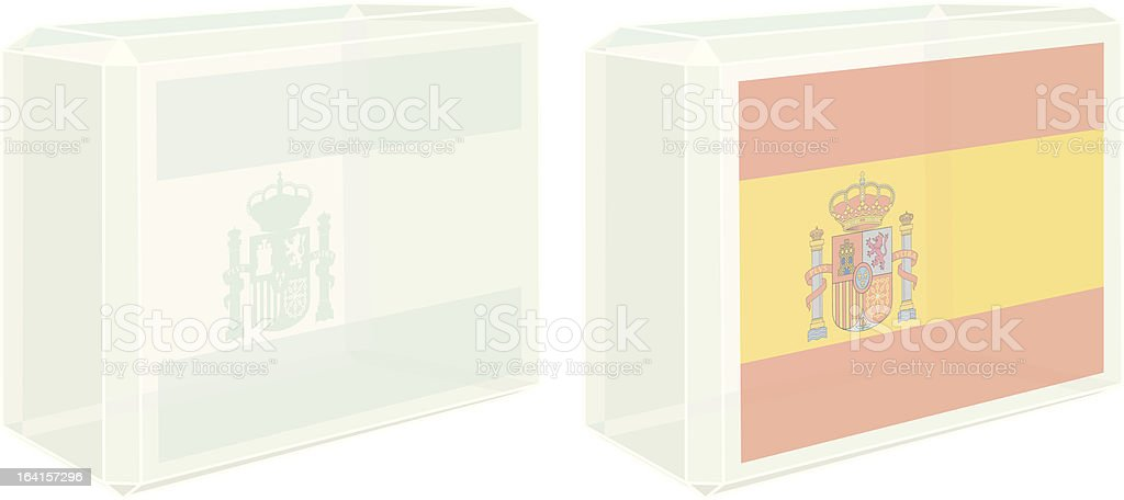 Glass Block Spanish Flag royalty-free stock vector art