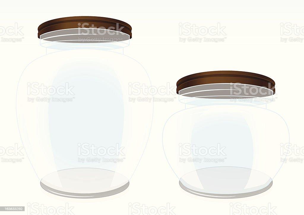 Glass jars royalty-free stock vector art