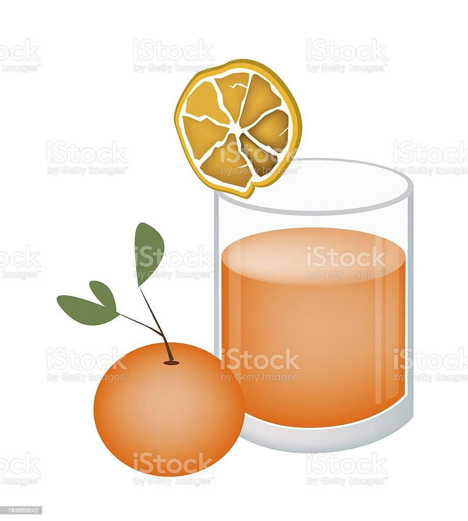 Glass of Orange Juice and Oranges Fruit royalty-free stock vector art