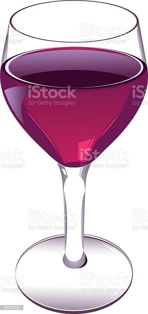Glass of Wine - Vector royalty-free stock vector art