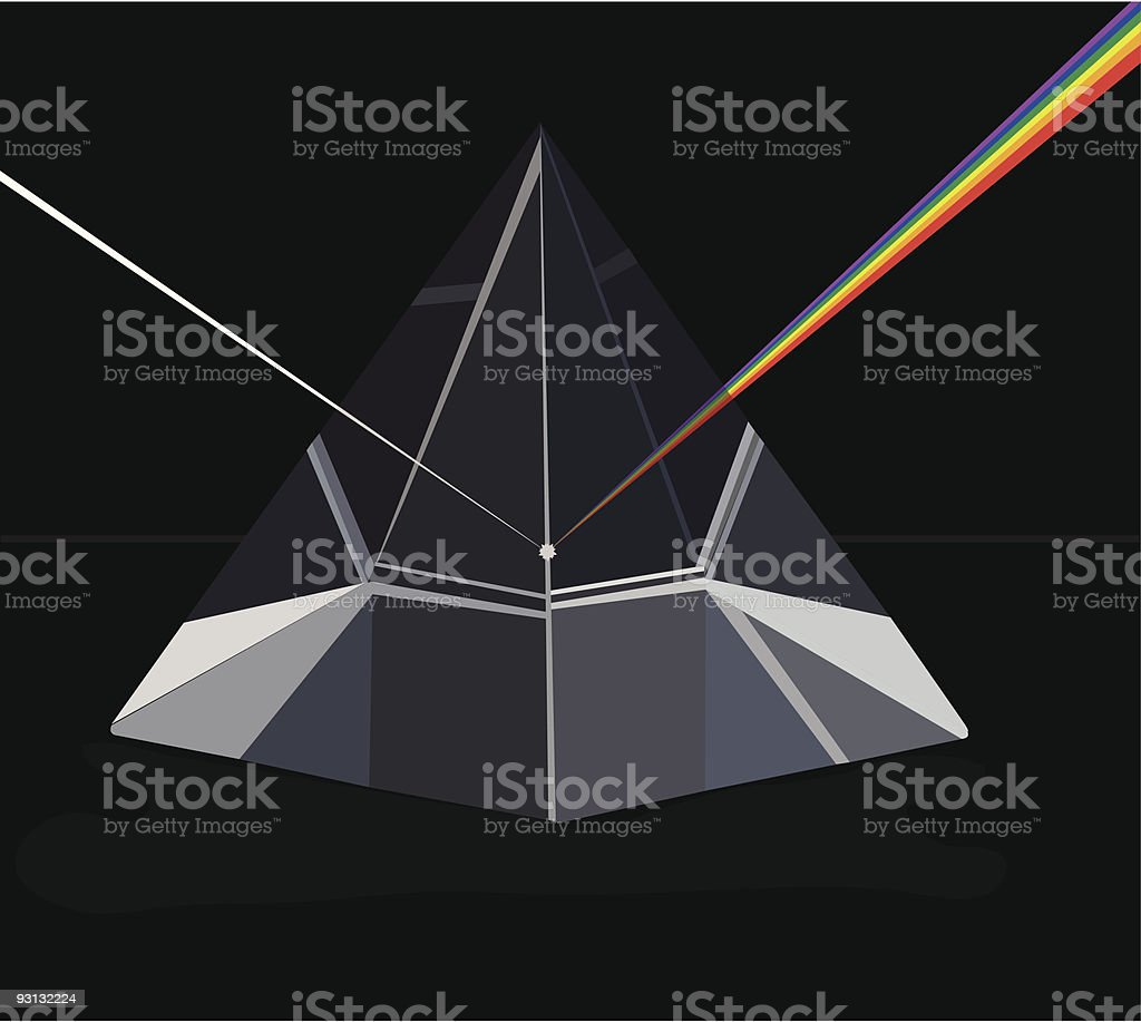 Glass Prism royalty-free stock vector art