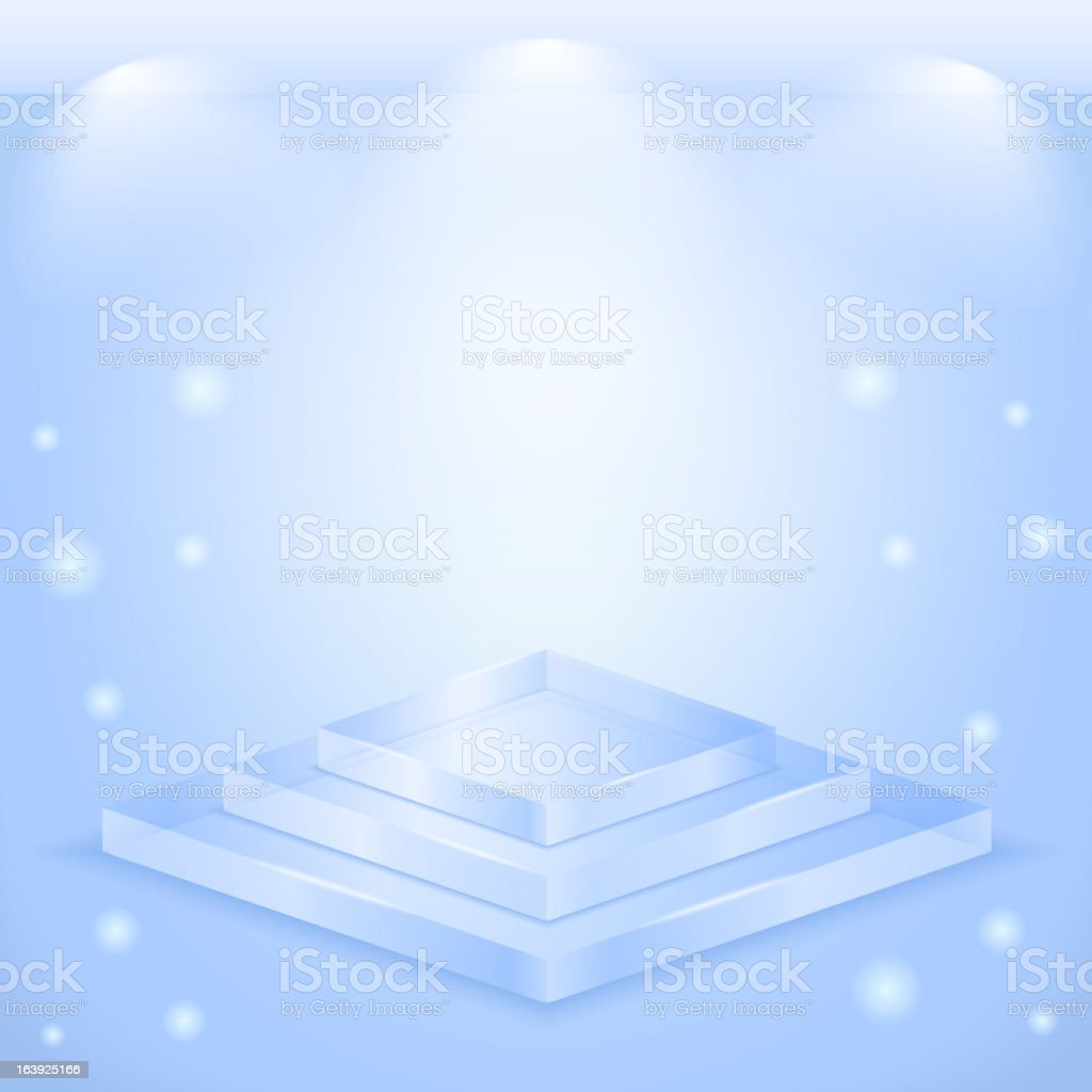 Glass Stage royalty-free stock vector art