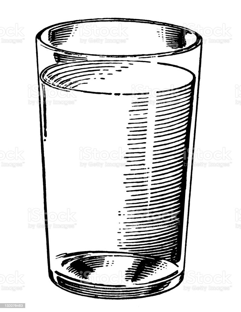 Glass with clear Liquid royalty-free stock vector art