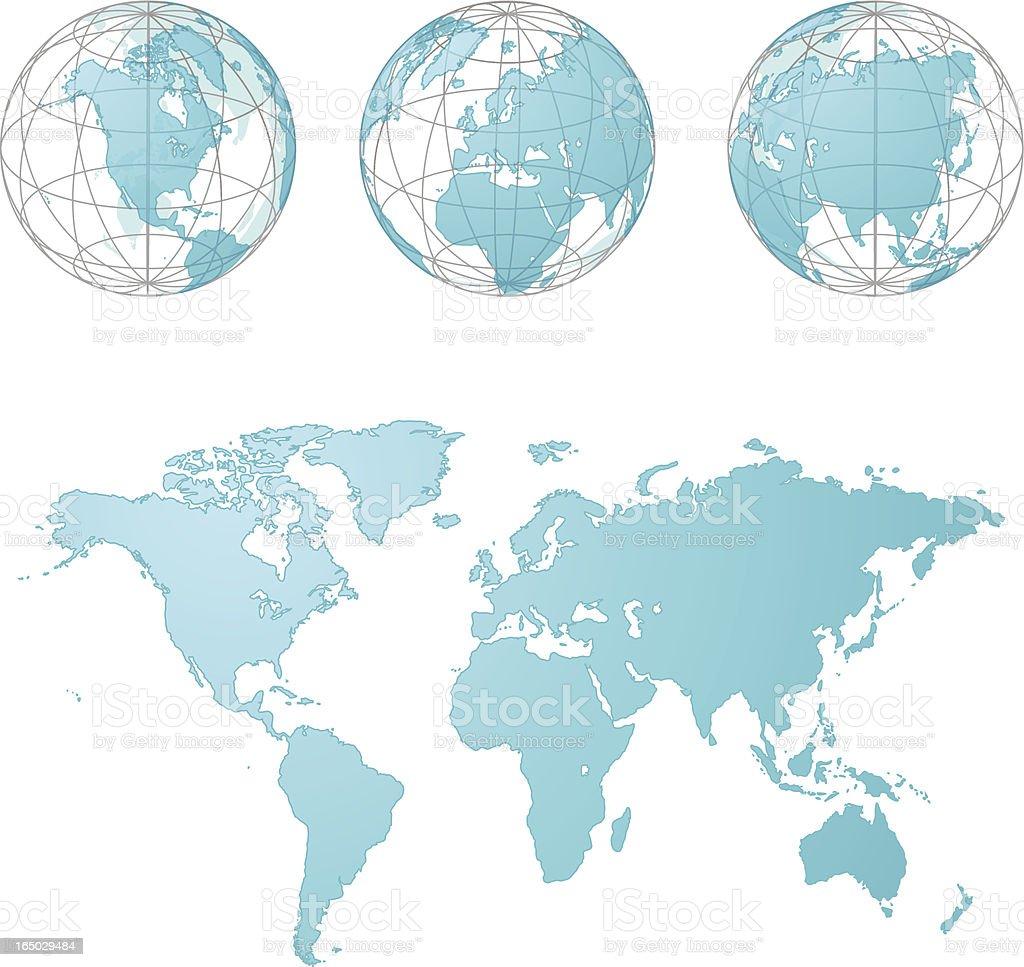 Glass World ( vector ) royalty-free stock vector art