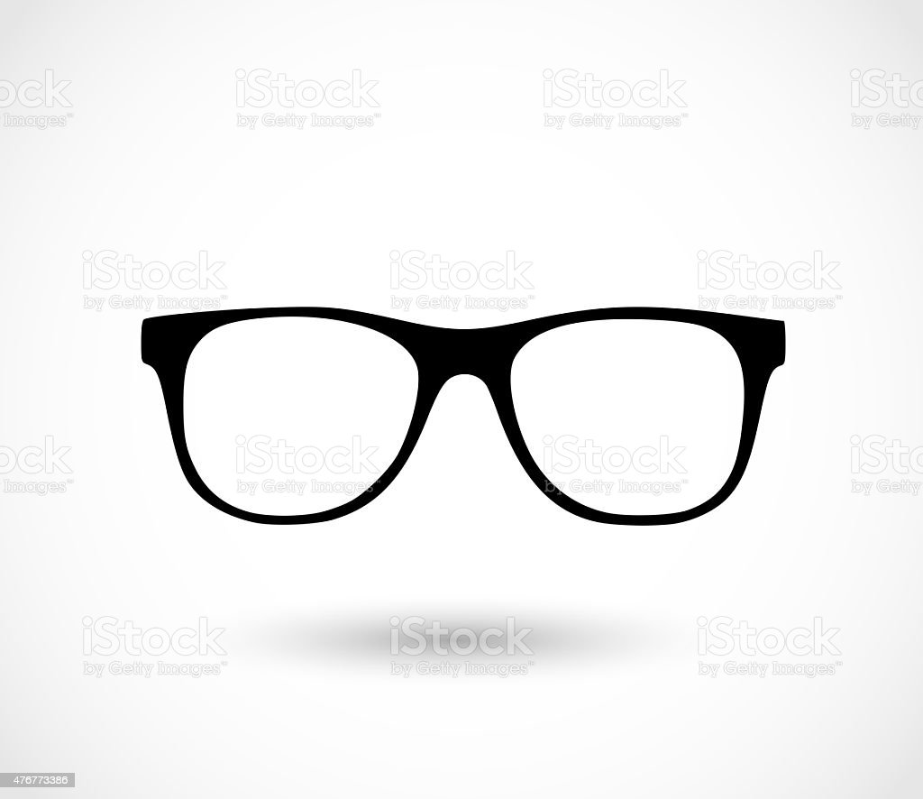 Glasses icon illustration vector art illustration