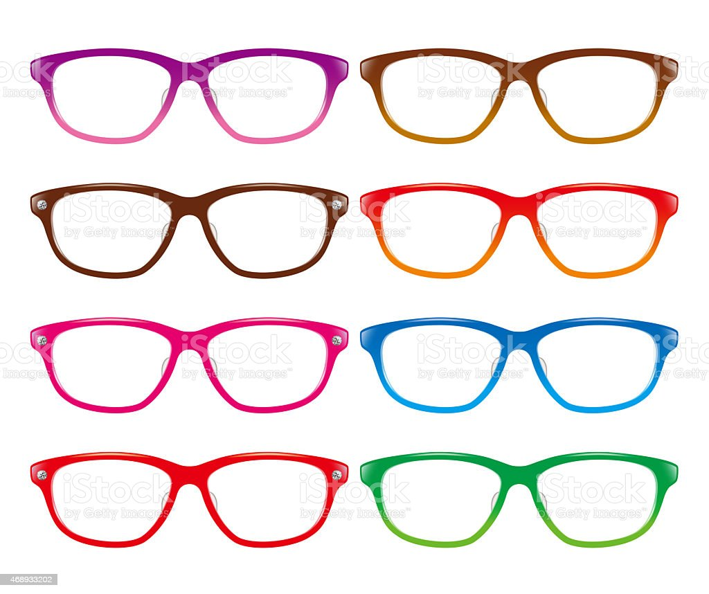 Glasses plastic frame. vector art illustration