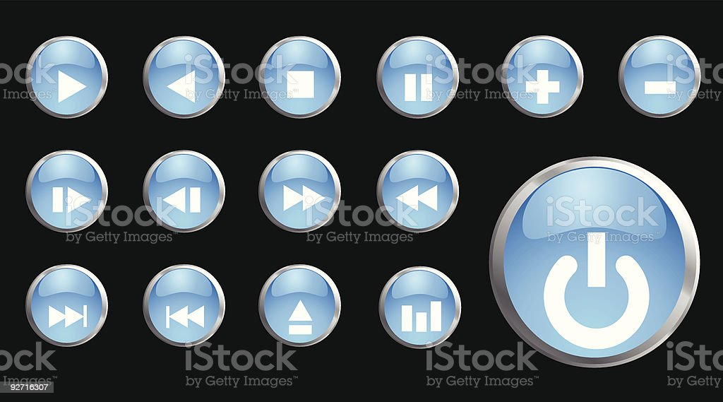 Glassy icons royalty-free stock vector art
