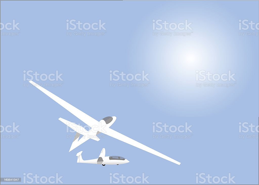 gliders royalty-free stock vector art