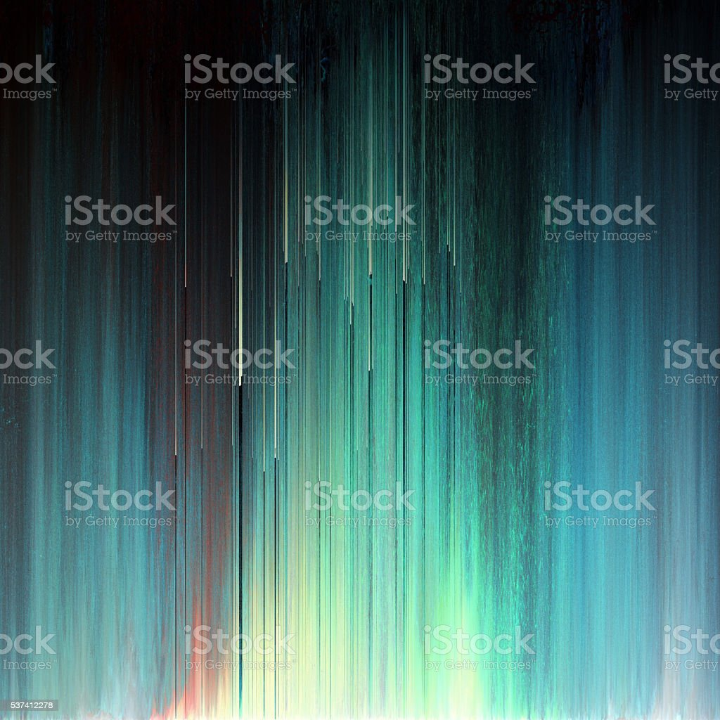 Glitch Art Pixel Texture Abstract Northern Lights vector art illustration