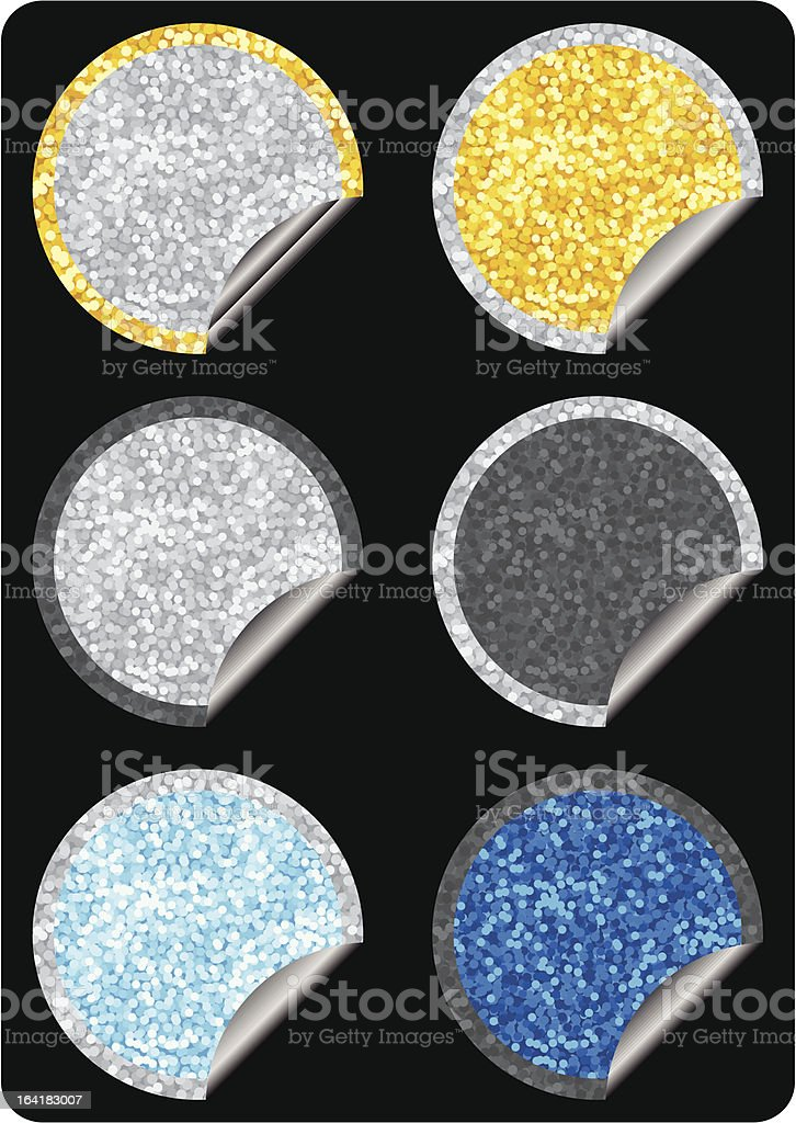 Glitter stickers royalty-free stock vector art