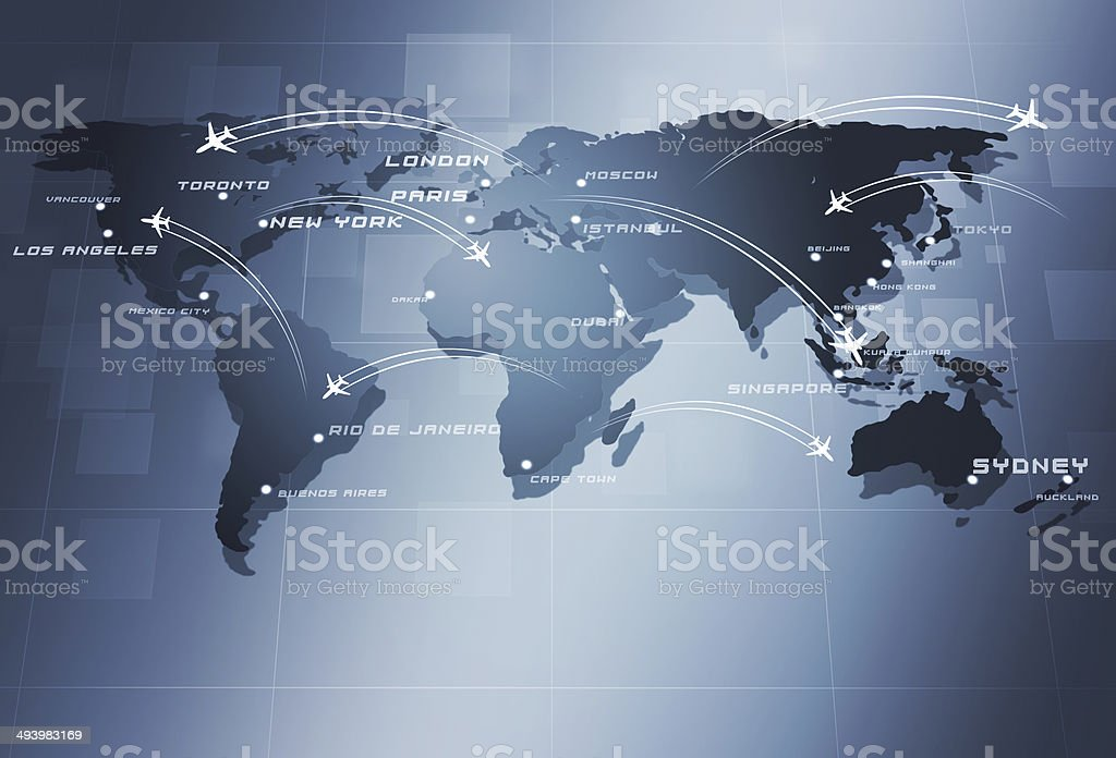 Global Aviation Business Background royalty-free stock vector art