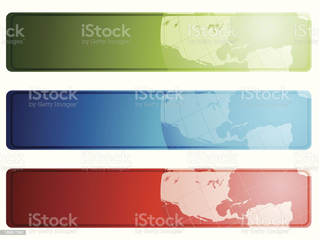 Global banners royalty-free stock vector art