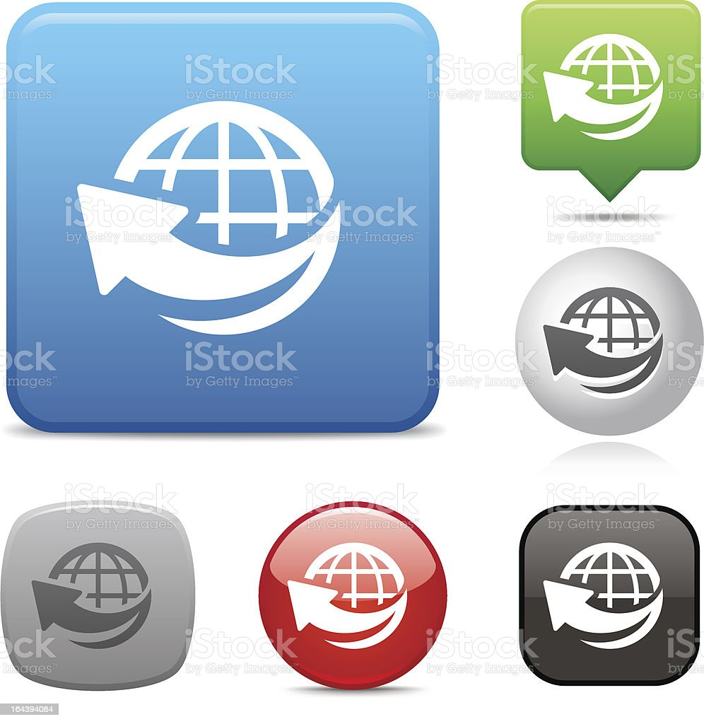 Global Communication icon royalty-free stock vector art