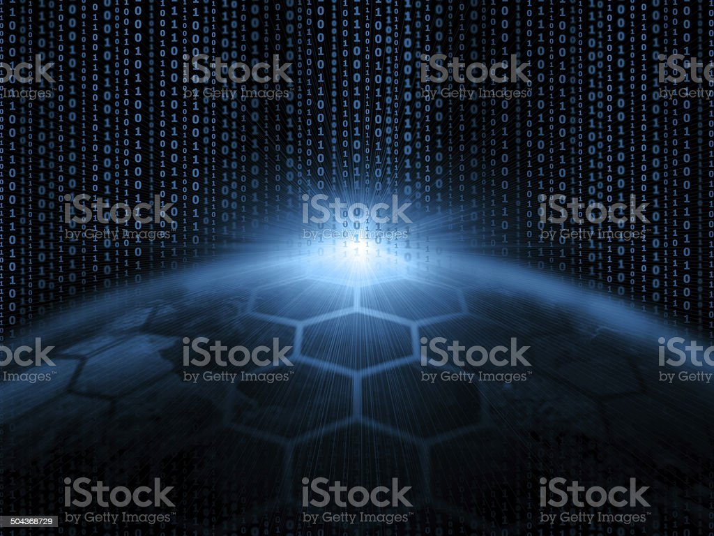 Global communications and network vector art illustration