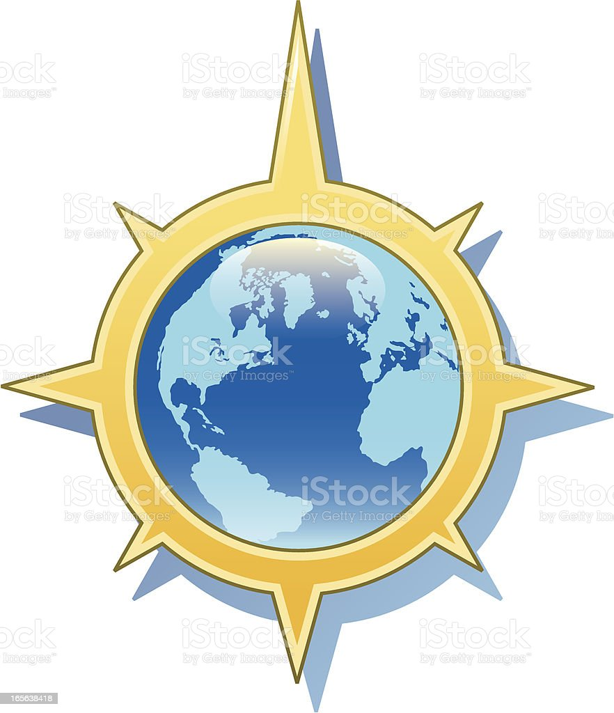 Global compass royalty-free stock vector art