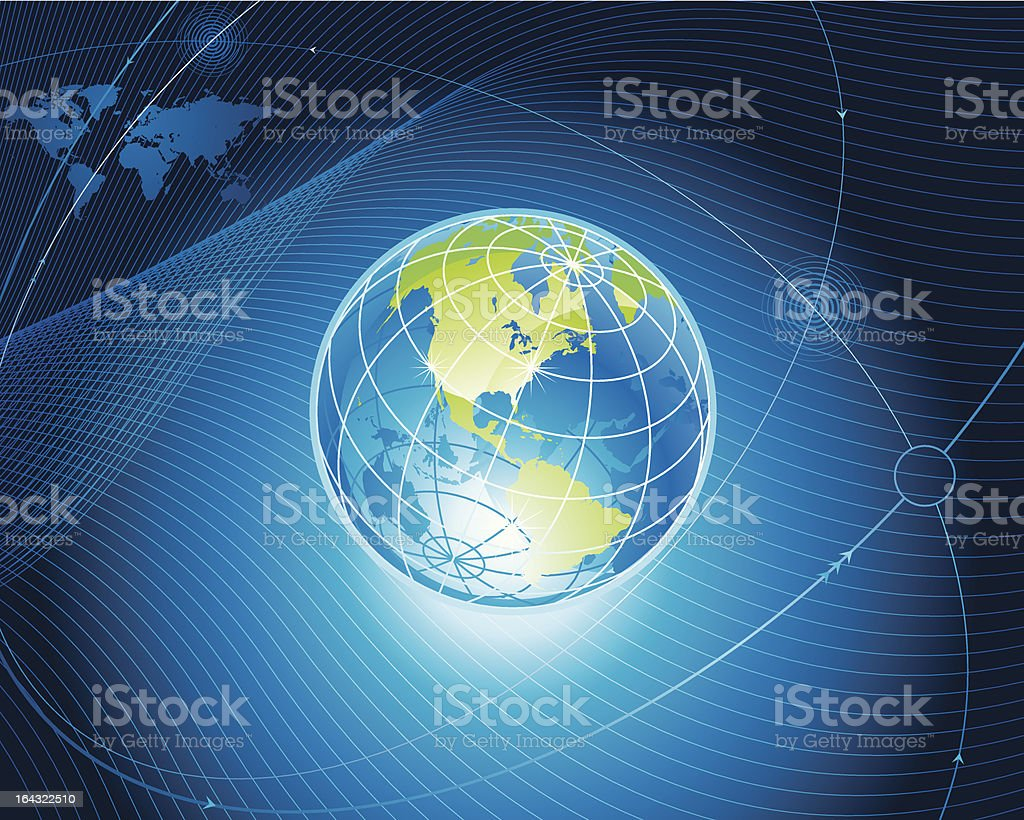 Global Connect vector art illustration