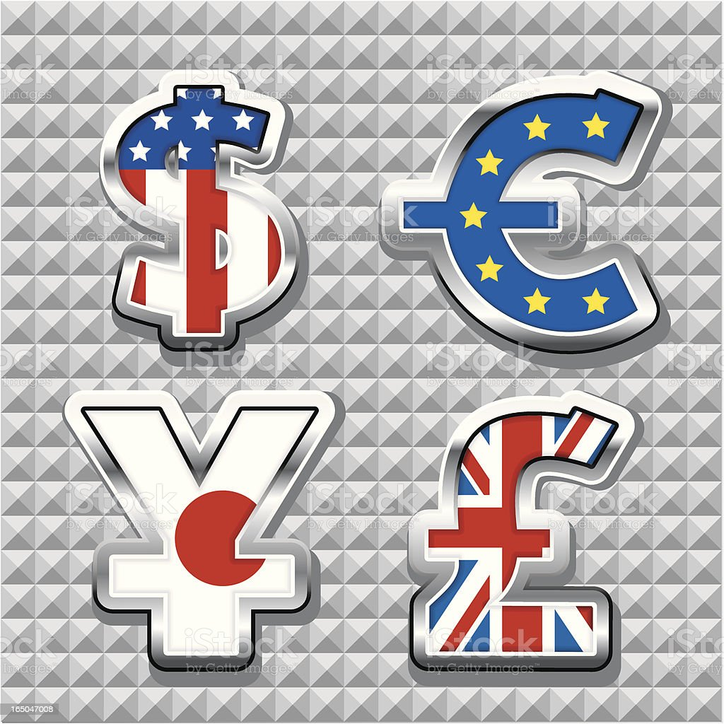 Global currency royalty-free stock vector art