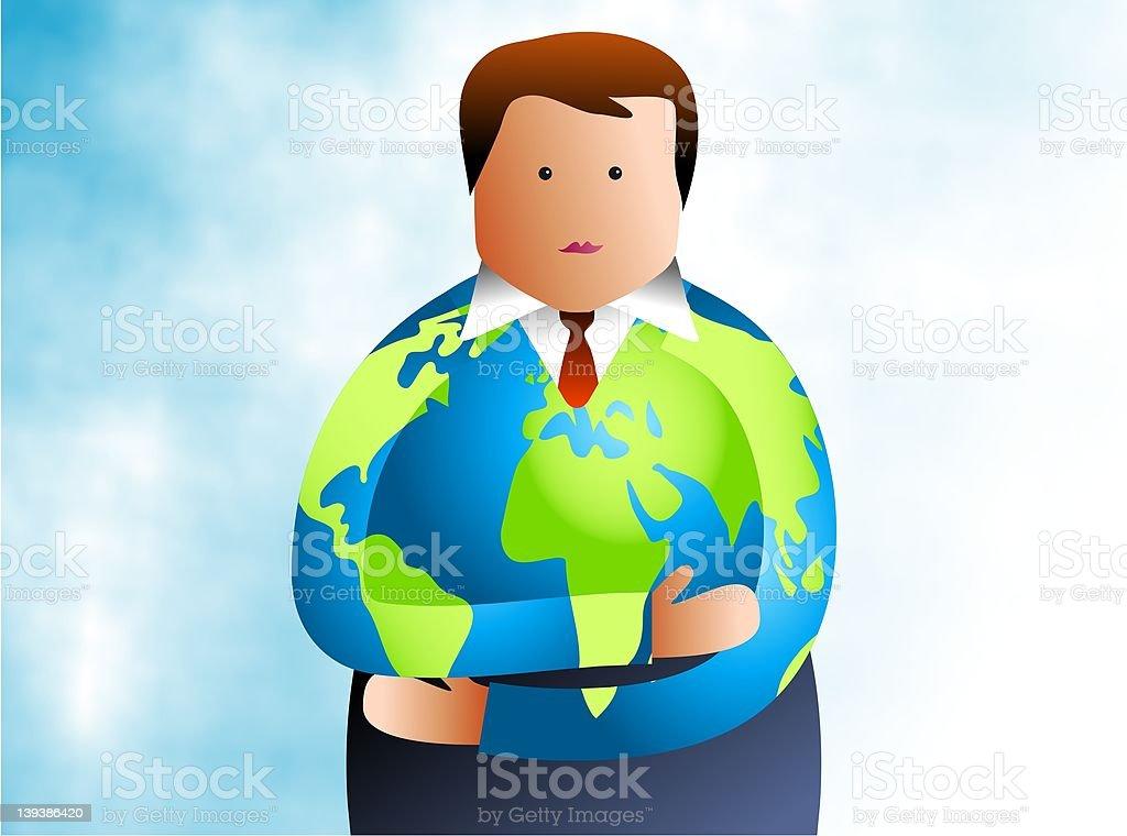 Global Man royalty-free stock vector art