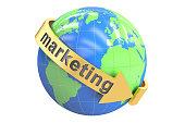 Global Marketing concept, 3D rendering