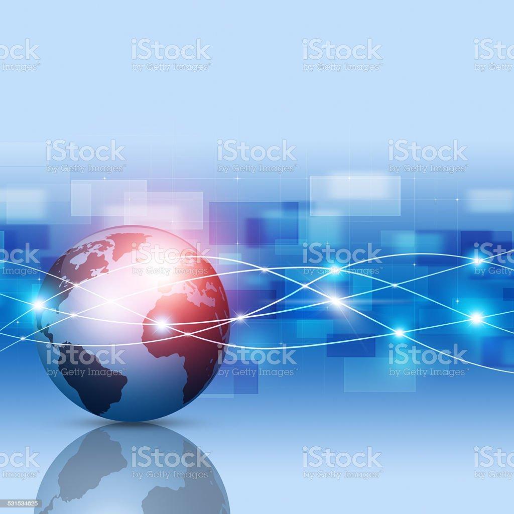 Global Network Blue Business Background vector art illustration