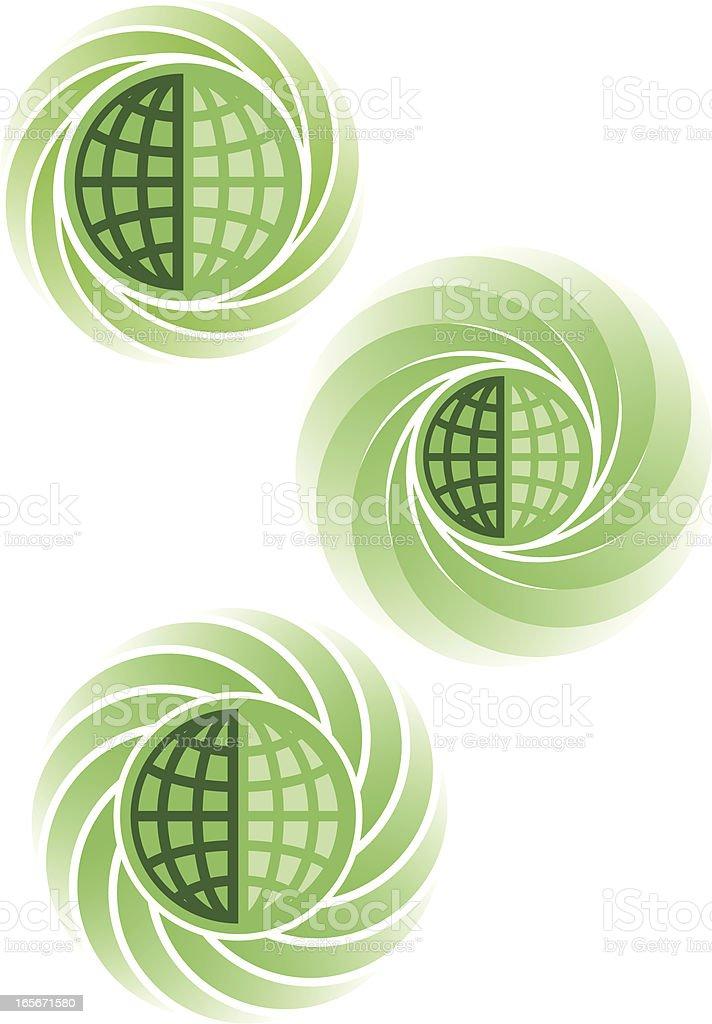 Global spirals royalty-free stock vector art