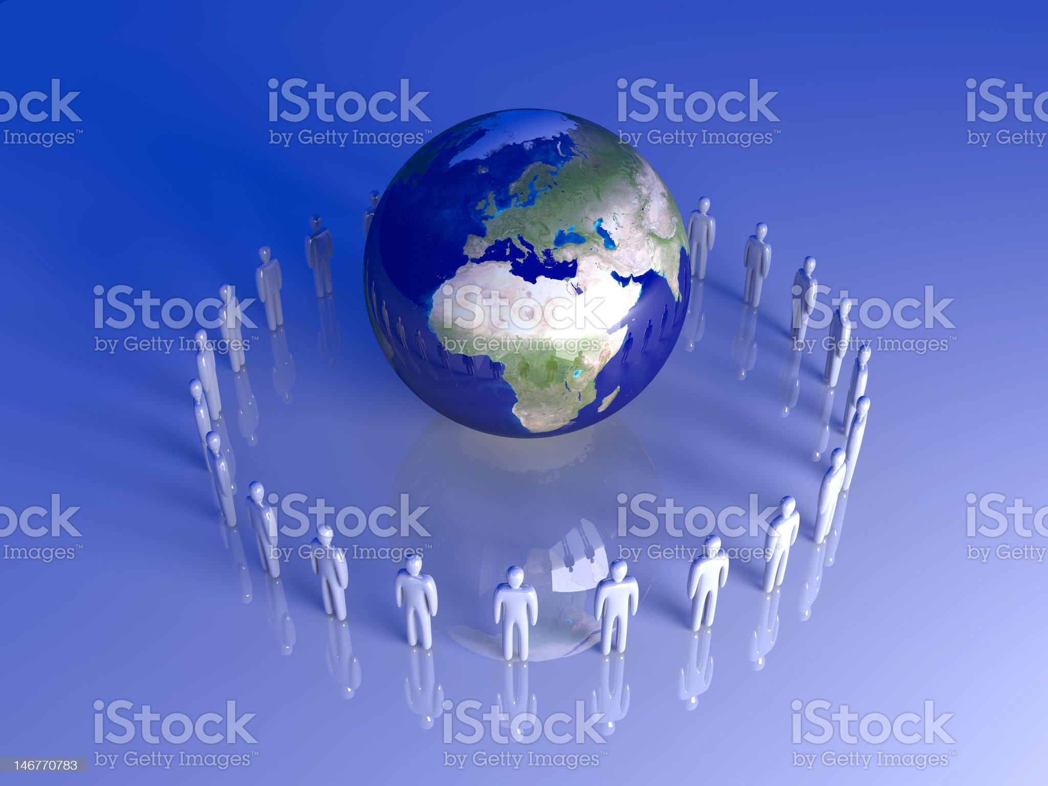Global Team - Europe, Africa royalty-free stock vector art