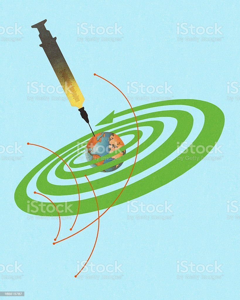Global Vaccination royalty-free stock vector art