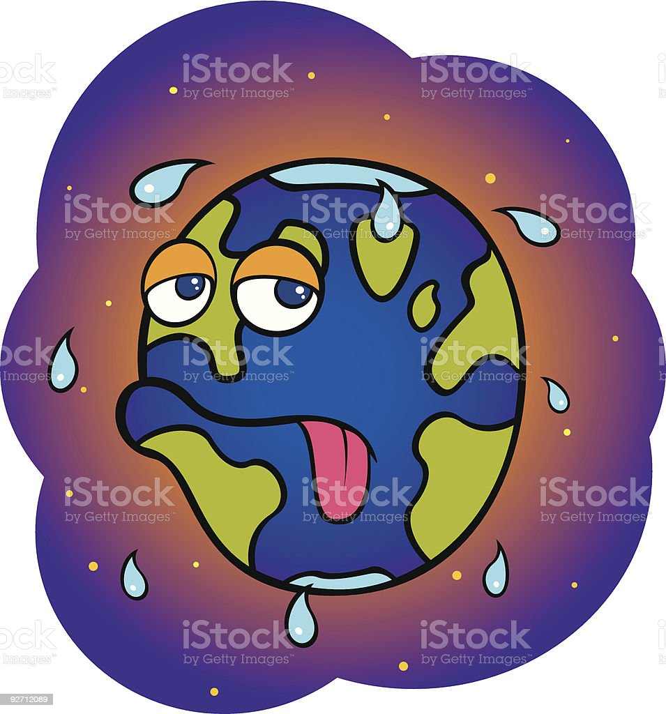 Global Warming Cartoon royalty-free stock vector art