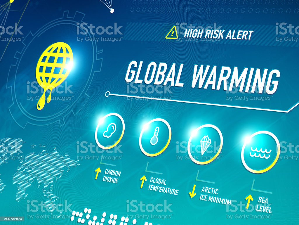 Global Warming vector art illustration