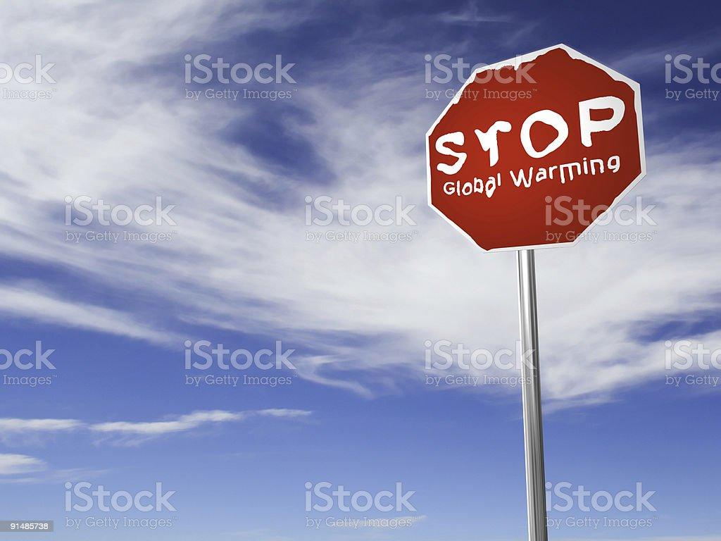 STOP Global Warming! royalty-free stock vector art