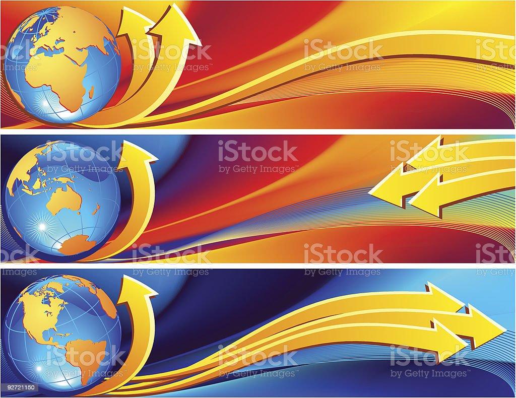 globe banner royalty-free stock vector art