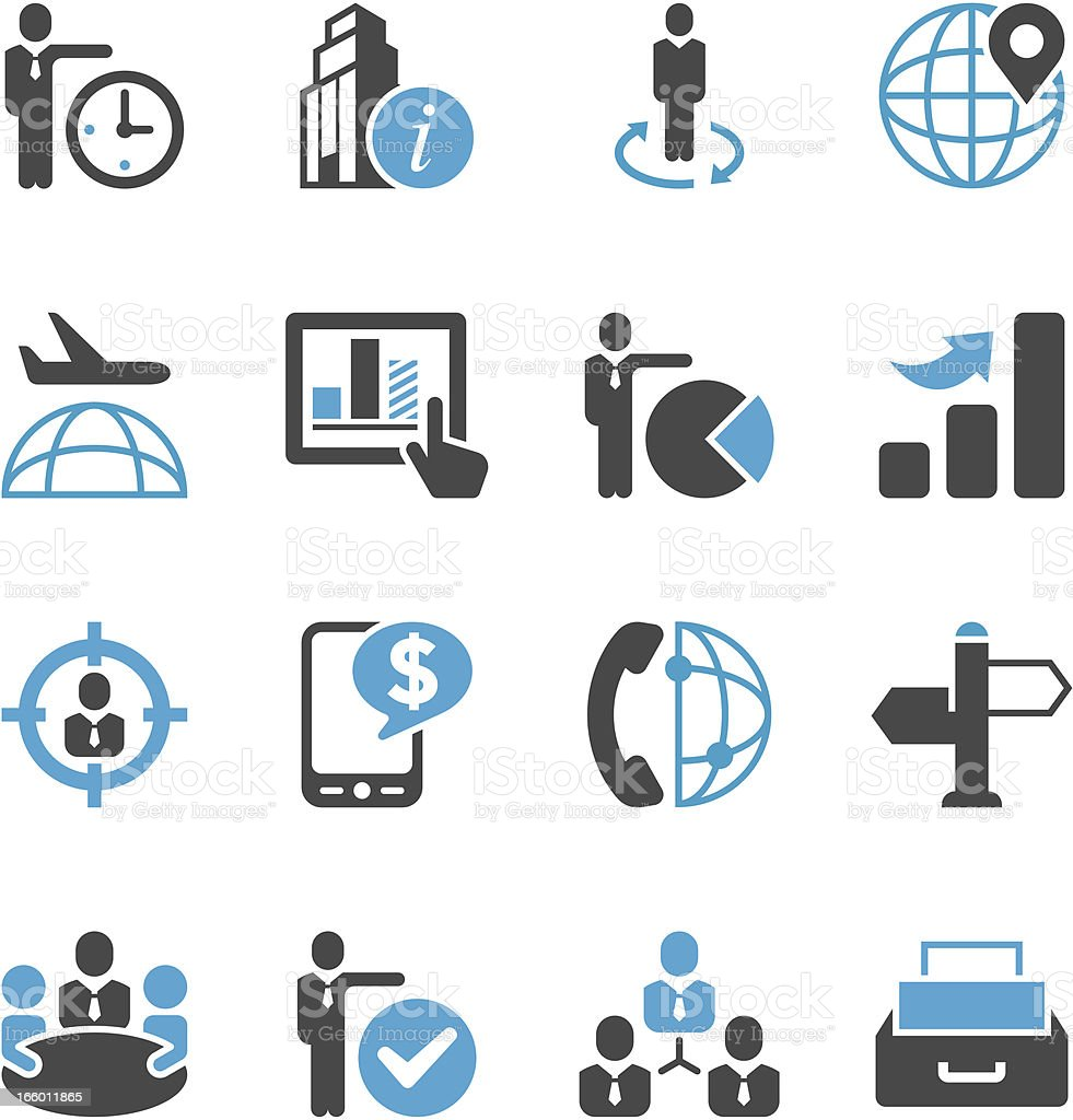 Globe Business Icon Set | Concise Series vector art illustration