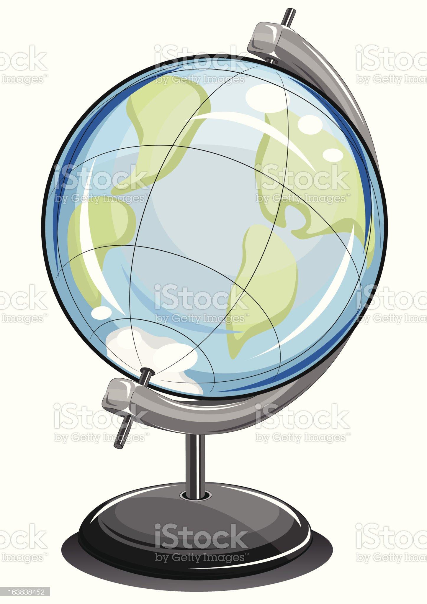 globe earthly ball royalty-free stock vector art
