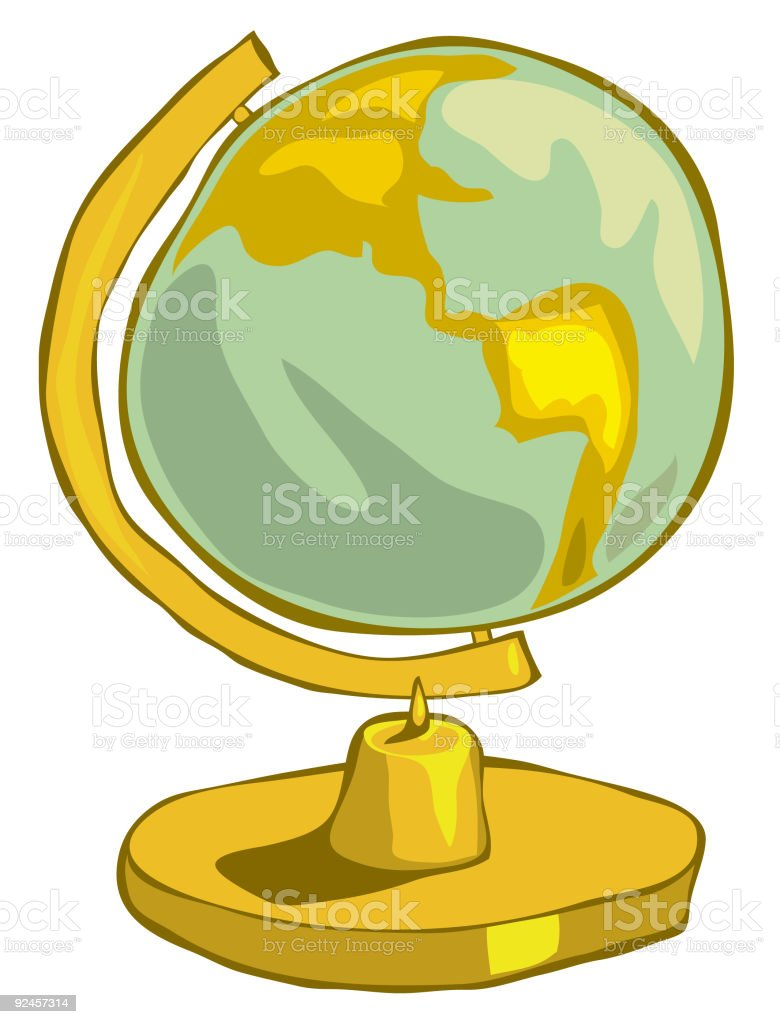 Globe vector art illustration