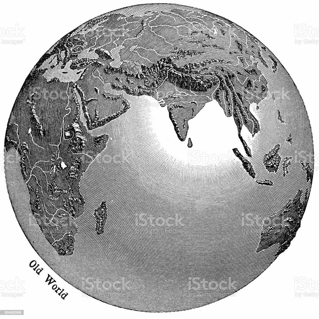 Globe View royalty-free stock vector art