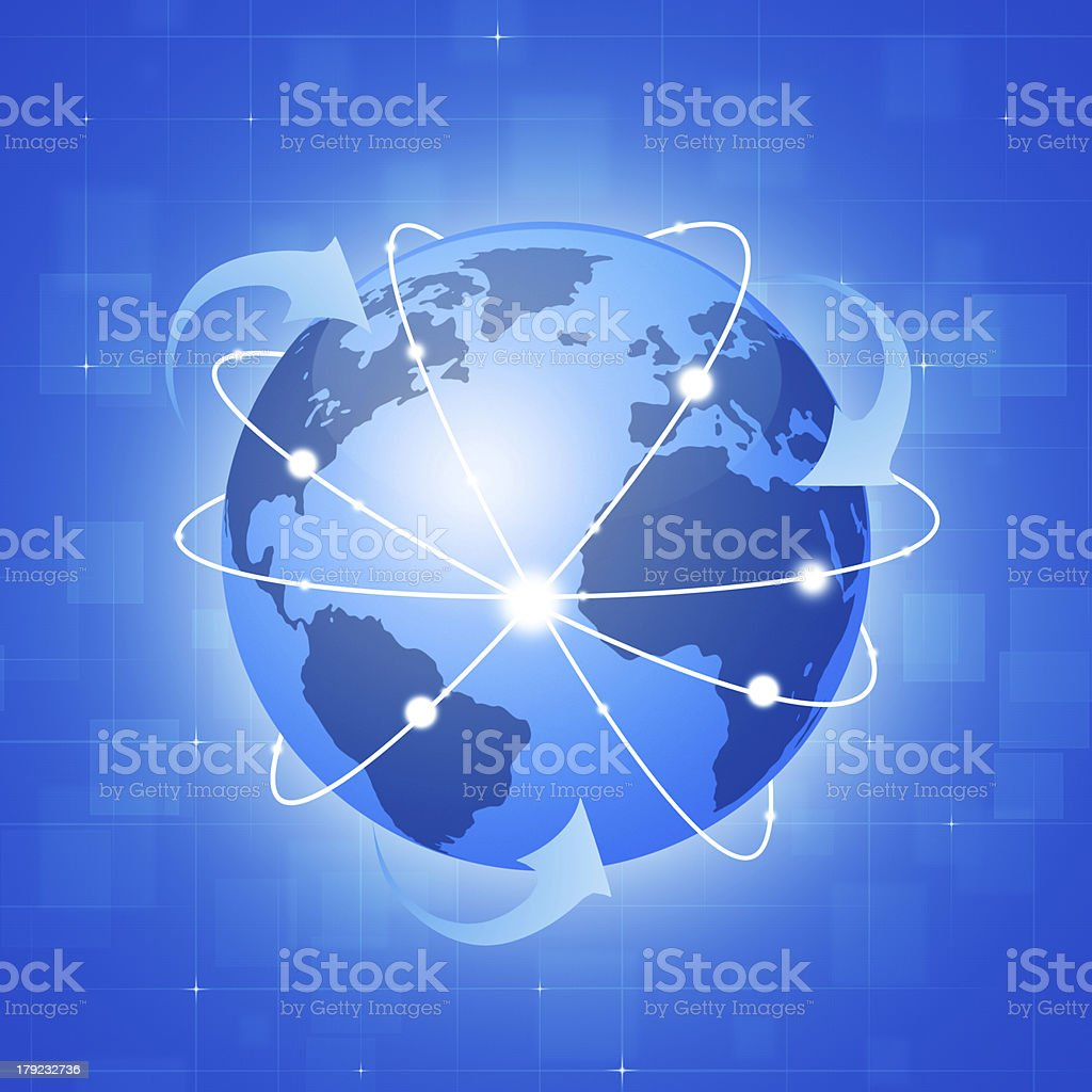 Globe Wide Connections royalty-free stock vector art