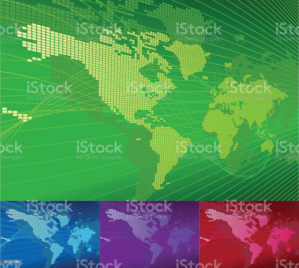 Globe Word Map of Earth Background royalty-free stock vector art