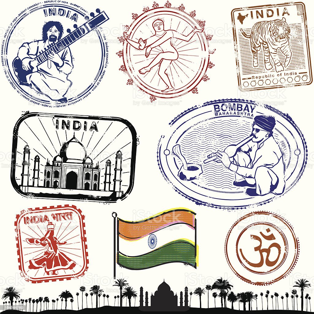 Glorious India Collection royalty-free stock vector art