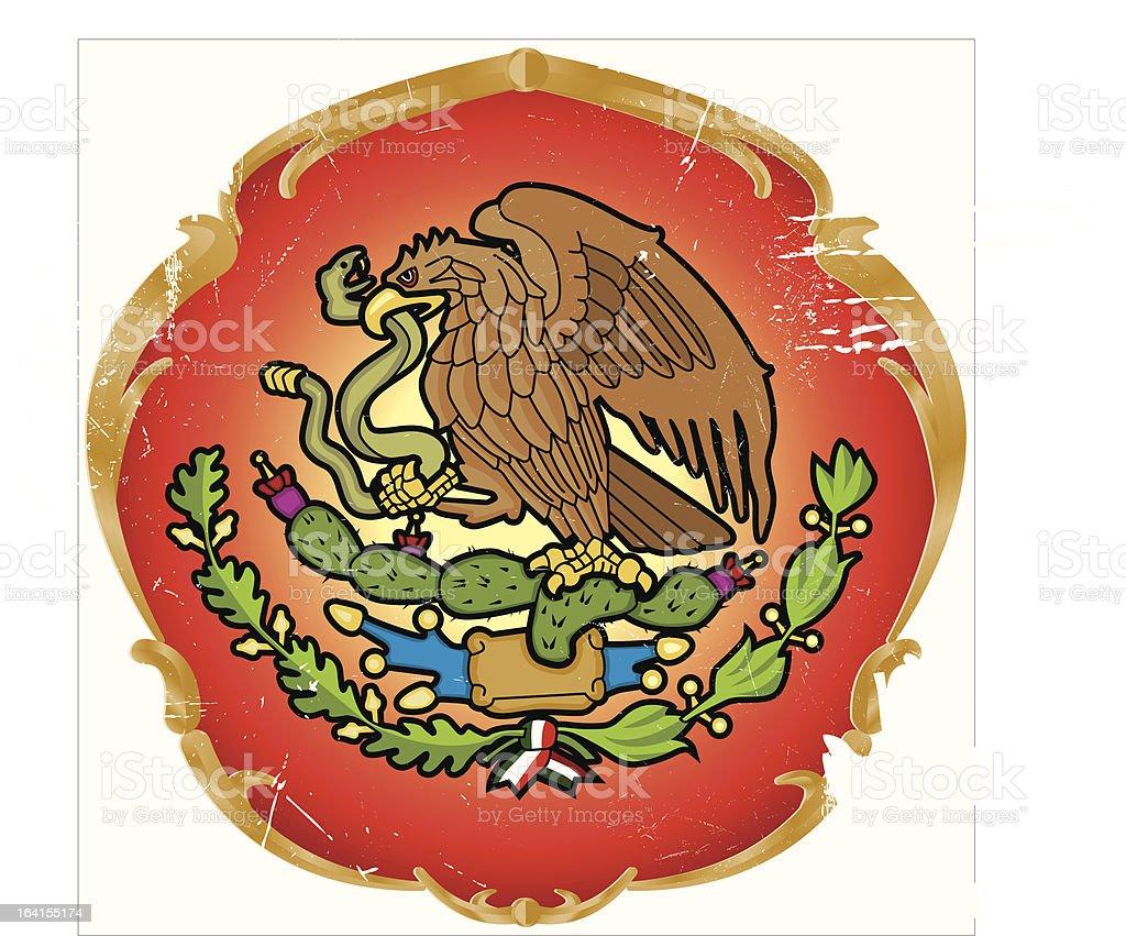 Glorious seal of the Mexican Estados vector art illustration