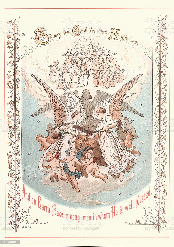 Glory to God in the Highest vector art illustration