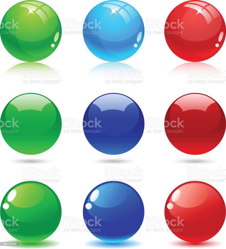 Glossy balls. royalty-free stock vector art