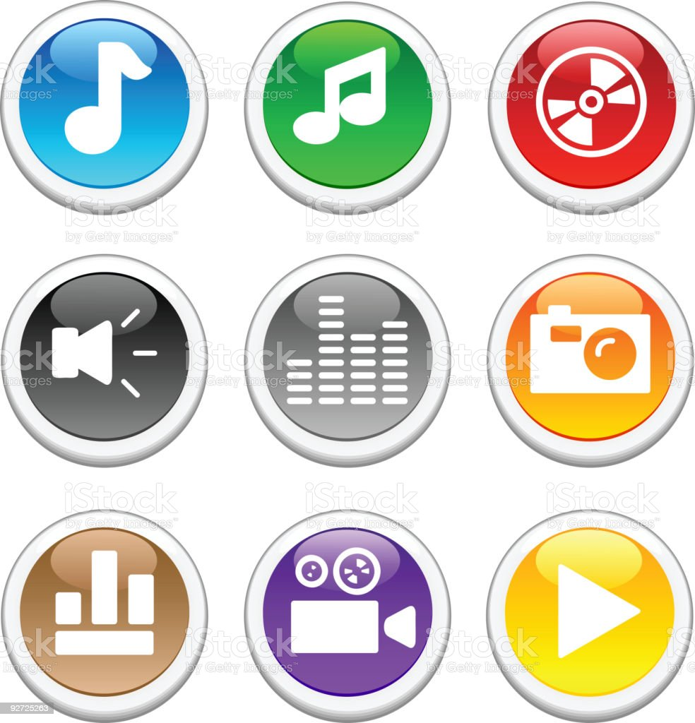 Glossy buttons. royalty-free stock vector art