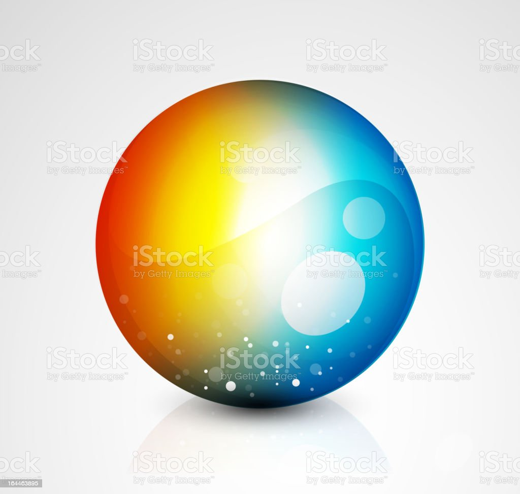 Glossy color sphere royalty-free stock vector art
