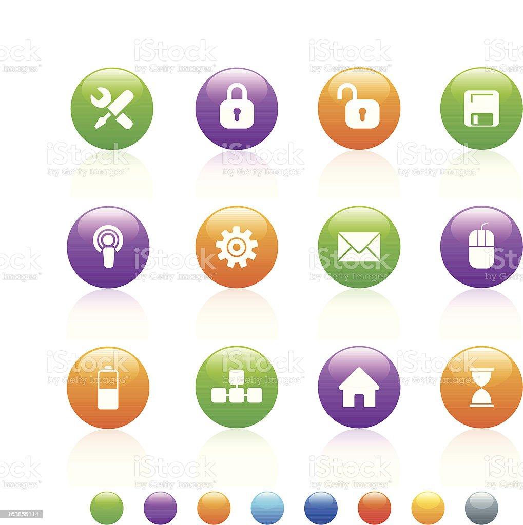 Błyszczące kolor komputera stockowa ilustracja wektorowa royalty-free