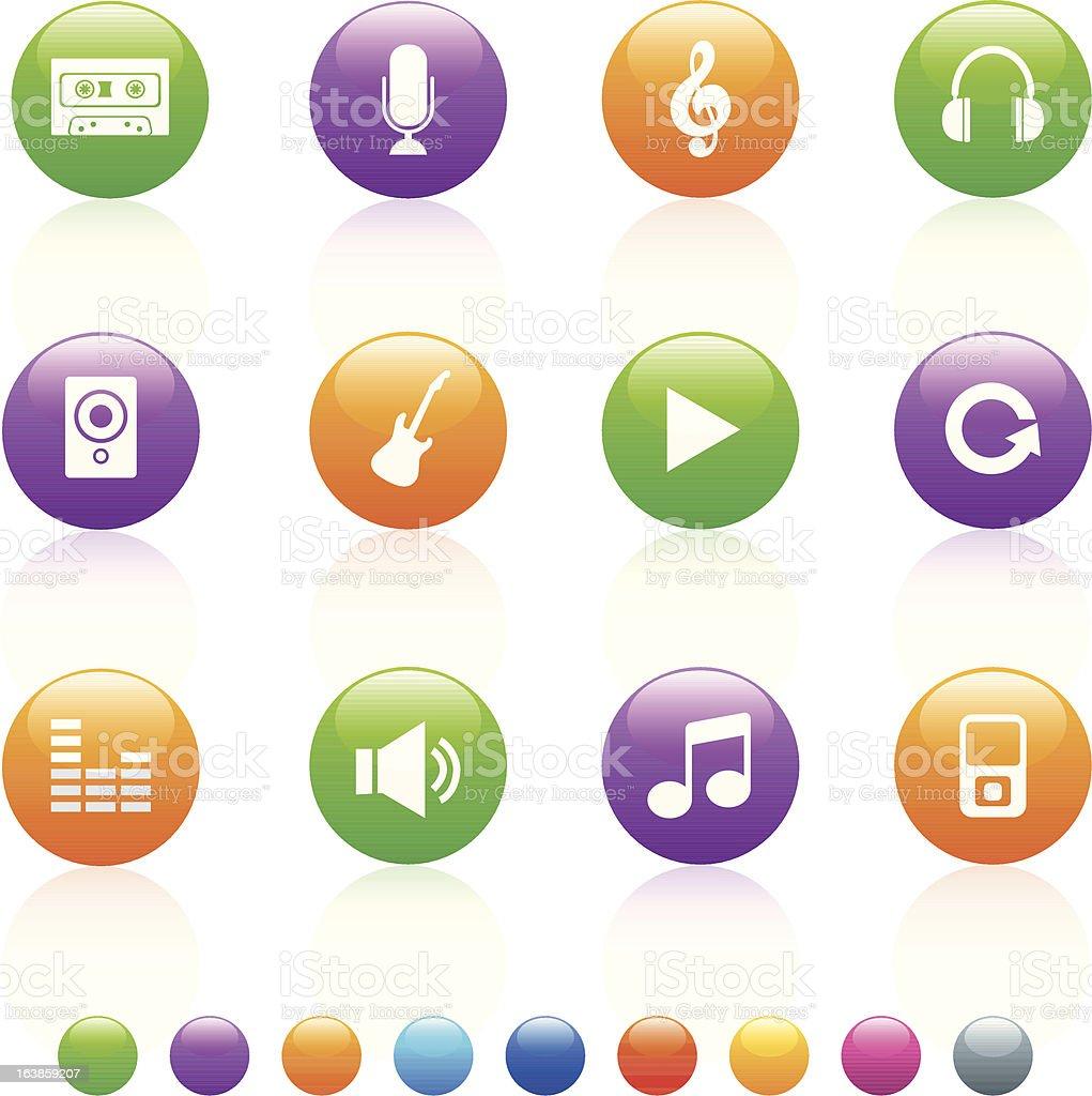 Błyszczący kolorowy Muzyka stockowa ilustracja wektorowa royalty-free